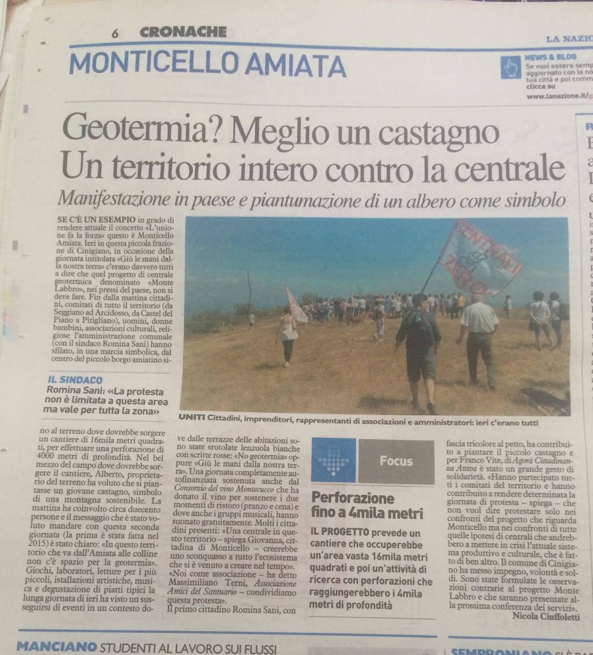 L'articolo di Nicola Ciuffoletti su La Nazione del 4 luglio