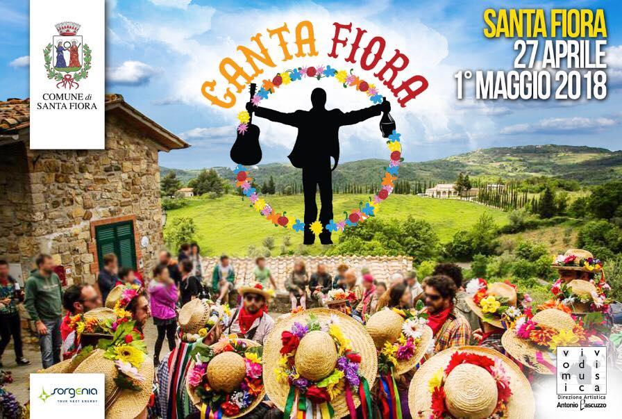 Il manifesto pubblicitario dell'evento Canta Santa Fiora pagato da Sorgenia